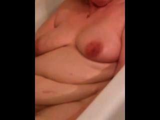 Bbw esposa clair baño tiempo