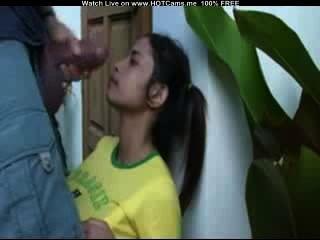 Hot brazilian chupar polla gorda y facial