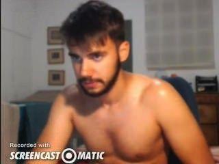 Sexy guy cums en la cámara
