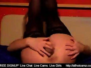 Chica rubia se masturba en la cámara libre chica sexchat video pornographique video