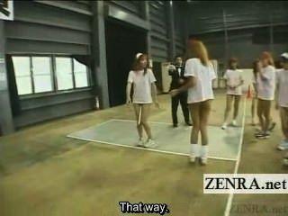 Subtitulado sin fondo japonés gyaru group baton relay