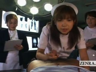 Subtitulado pov japonés enfermeras hospital seminario de sexo oral