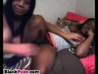 Bobbylicious busty ebony babes burlas en la cámara