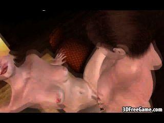 Foxy 3d dibujos animados rubia chupa polla y se la follan