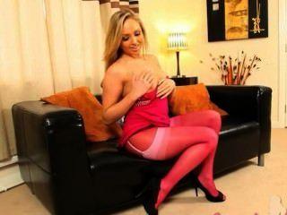 Nylon y pantyhose rosa es mi vida bang