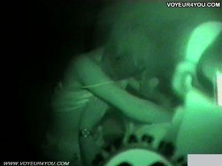 Noche oscura cámara infrarroja coche sexo