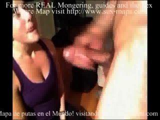 Puta masturbación aficionado y joder por detrás