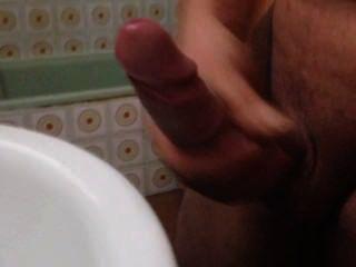 Pajeandome en el baño