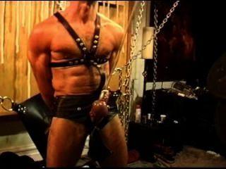 Cinco hombres sensual cbt, bdsm orgía con osos y nutrias.Pt 1