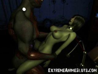 ¡Sexo impactante del scifi 3d!