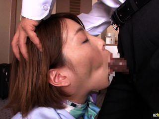 Tokyo, azafata, después, deber, golpeando, 2
