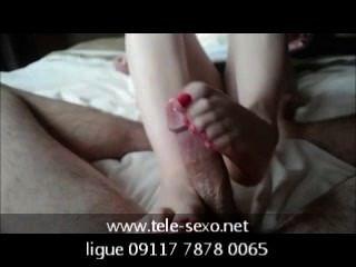 Hd sensual handjob y footjob de tele sexo.net 09117 7878 0065
