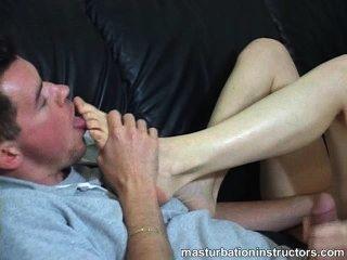¡Tirón del fetiche del pie de la compilación de la instrucción del estímulo / del masturbation!