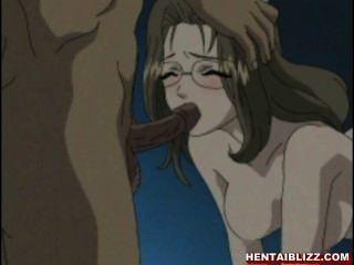 Enfermera hentai obtiene un foursome