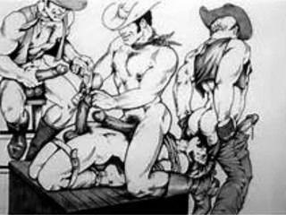Hoedown escenas del oeste americano