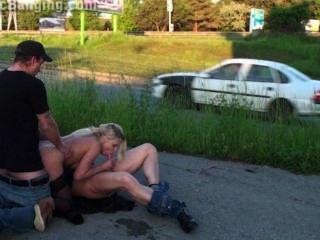 Chocante público calle grupo sexo gangbang orgía parte 4