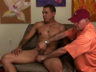 Str8 manly muscle hunk freaks como mim acariciar las pelotas y jacks él hasta él cums.