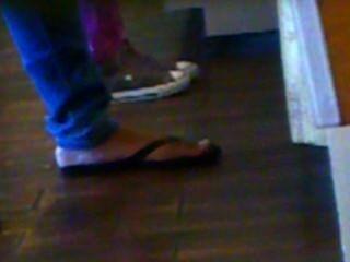 Sincero rápido: negro flip flops