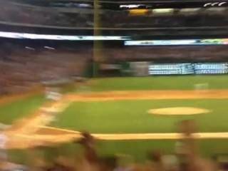 Follando en el juego de béisbol