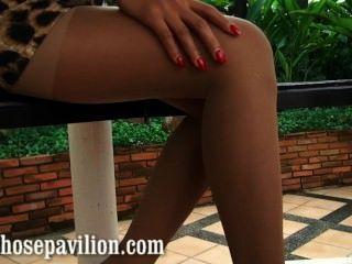 Sexy nonnude pantyhose leg tease vista previa de Tailandia caliente xanny modelo