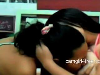 Lesbiana con los pezones grandes bbw en webcam