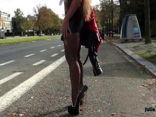 La mejor puta sumisa en minifalda de spandex